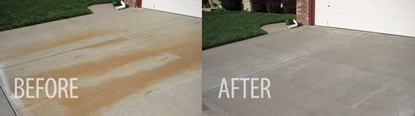 Driveway Rust Cleanup